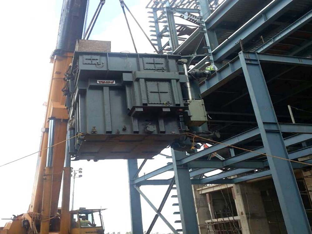 Erection of 18MVA Transformer in Furnace Building.