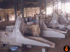 Fabrication of bus bar nagetive collector